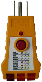 Click image to enlarge - GFI Receptacle Tester